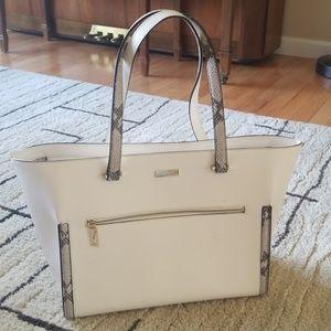 Kate Spade Cream/Snakeskin Tote Bag